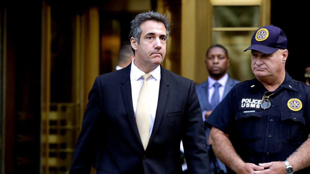 Michael Cohen, the former lawyer to President Donald Trump, exits the Federal Courthouse, Aug. 21, 2018, in New York City.