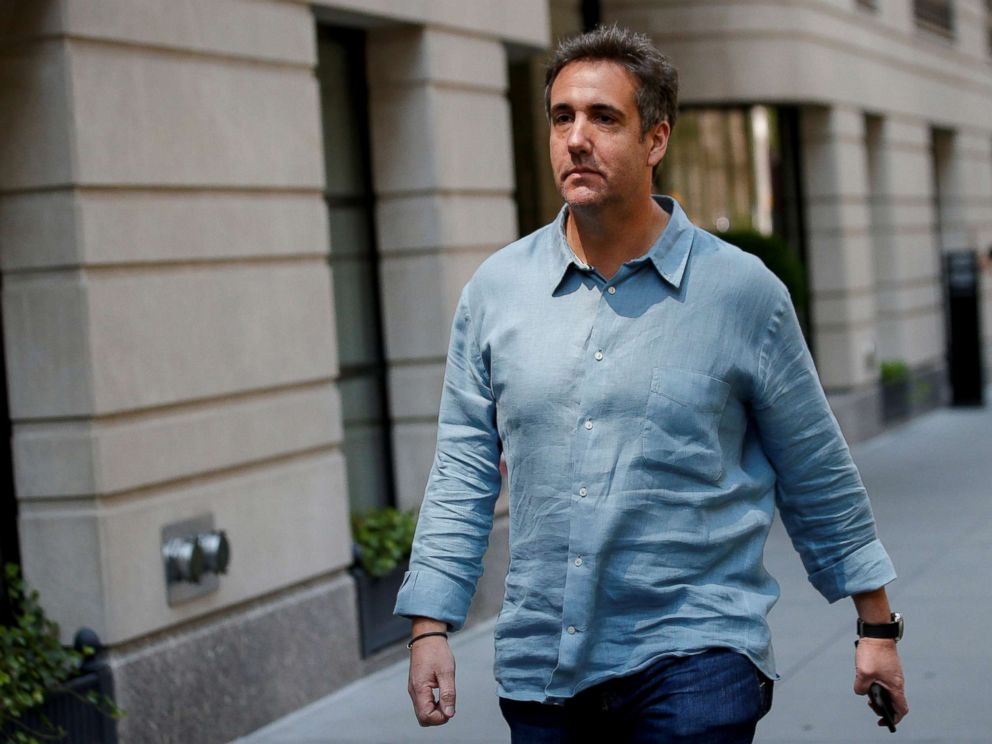 PHOTO: Michael Cohen exits his hotel in New York City, July 2, 2018.