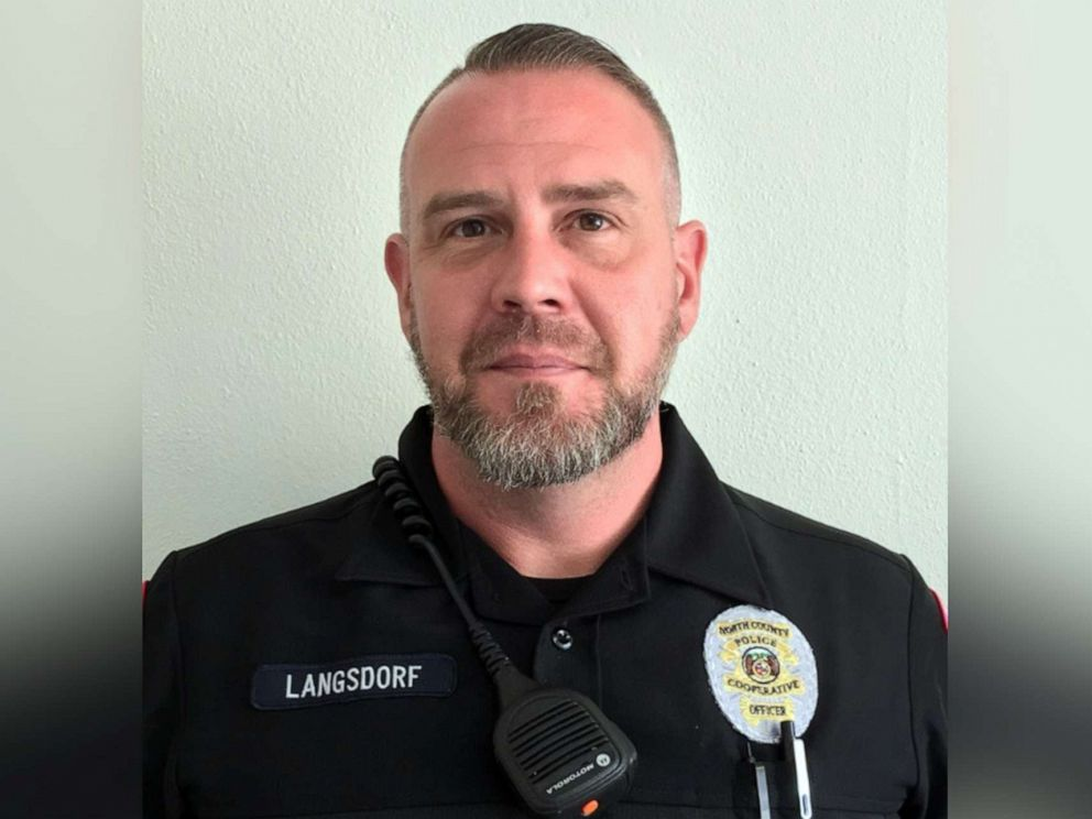 PHOTO: North County Police Cooperative Officer Michael Langsdorf is pictured in a police handout photo shared to Facebook on June 23, 2019.