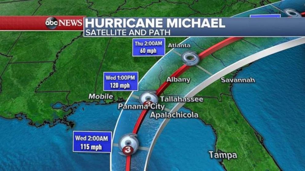 PHOTO: Michael is expected to make landfall somewhere near Panama City, Fla., on Wednesday afternoon.