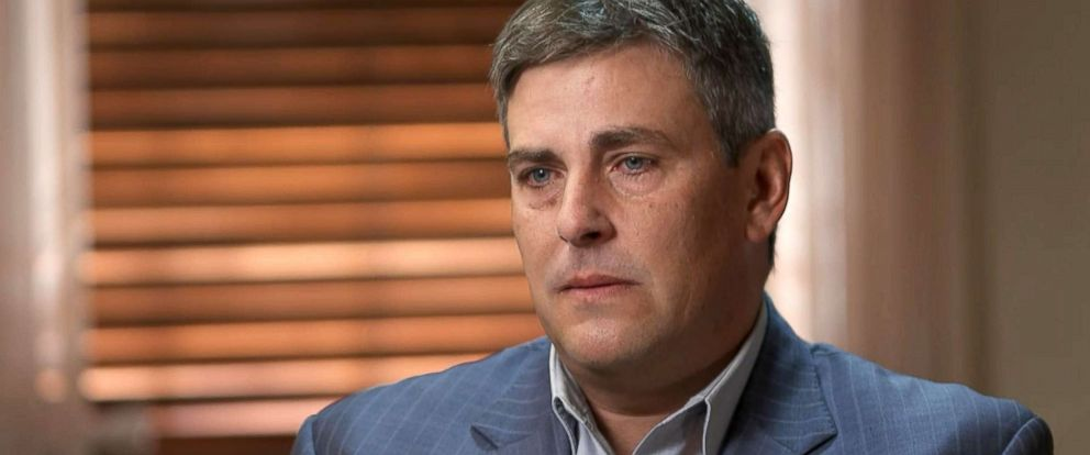 PHOTO: Michael Riordan speaks to ABC News about how he learned of his wifes death.