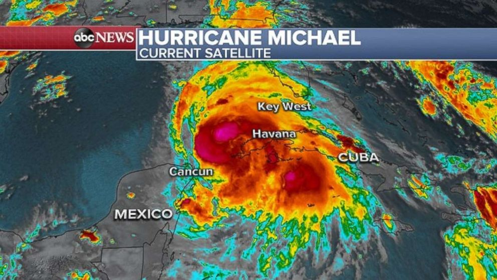 PHOTO: Michael was delivering rain and wind to western Cuba on Monday evening.