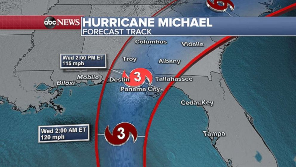 PHOTO: Michael could make landfall as a Category 3 storm on Wednesday.