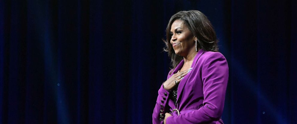 PHOTO: Former First Lady Michelle Obama appears at an event, May 11, 2019 in Atlanta, Ga.