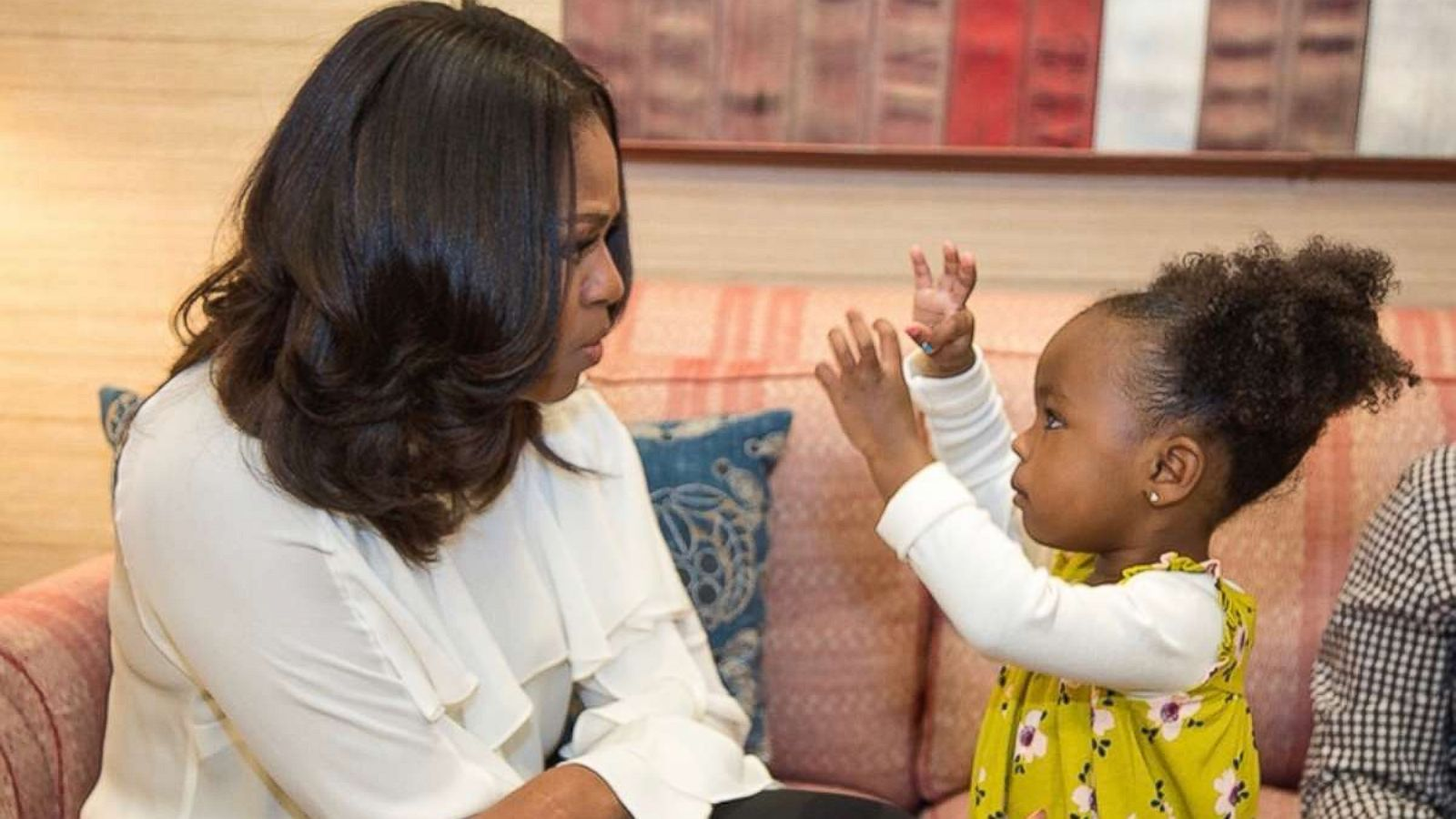 little girl who was mesmerized by michelle obama s portrait meets