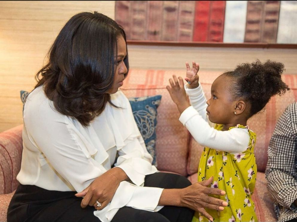 PHOTO: Michelle Obama met with Parker Curry, the little girl whose reaction to Obama's official portrait has gone viral. On Instagram Obama wrote, Keep on dreaming big for yourself...and maybe one day Ill proudly look up at a portrait of you!