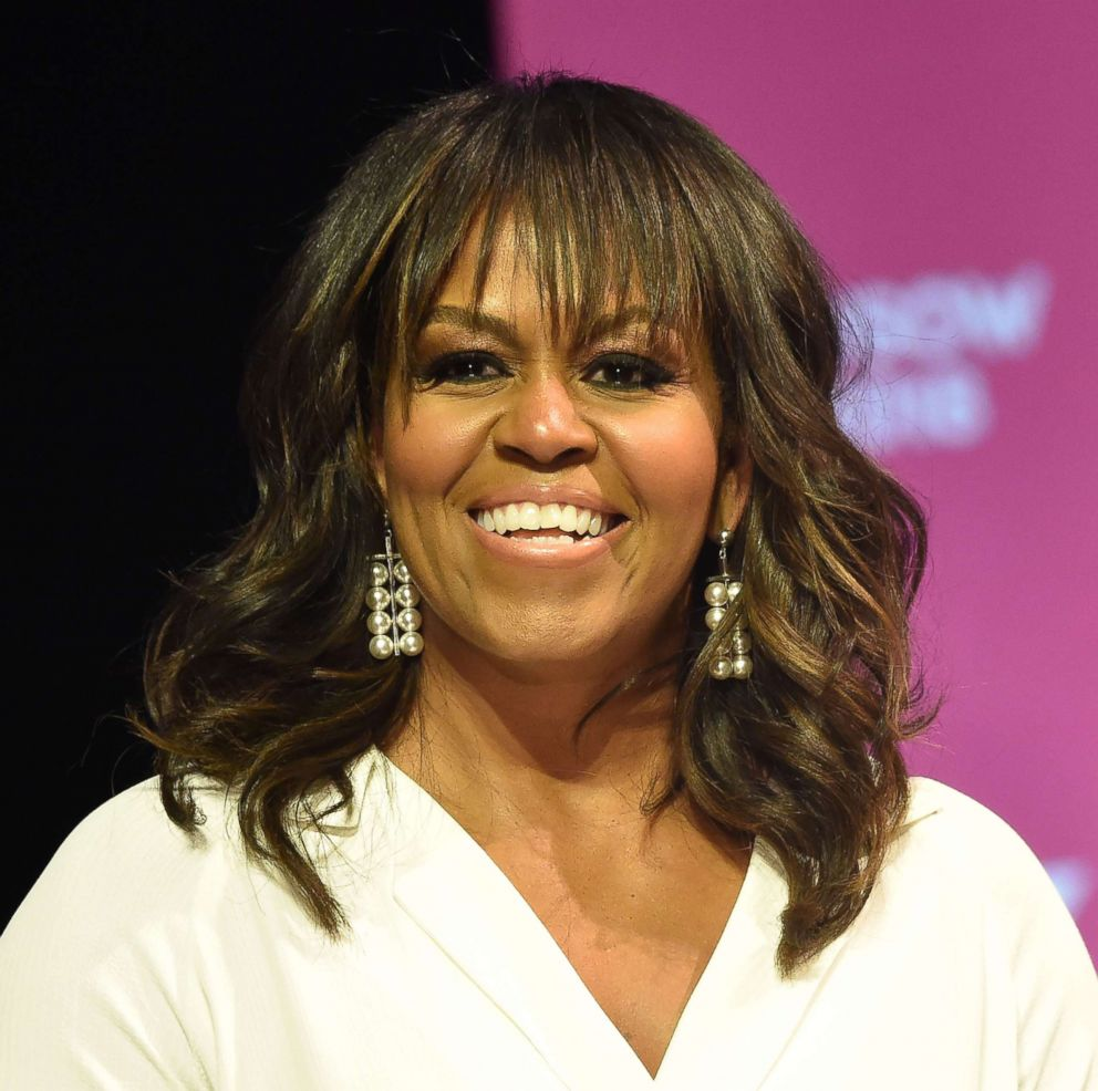 Former first lady Michelle Obama attends the United State of Women Summit at the Shrine Auditorium in Los Angeles, May 5, 2018.