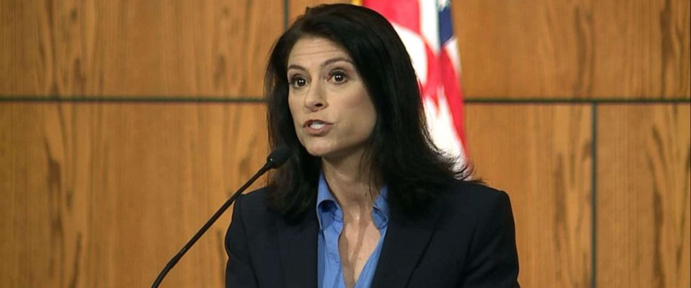 PHOTO: Michigan Attorney General Dana Nessel announces charges stemming from her offices investigation into clergy sexual abuse in the states Catholic dioceses, during a press conference in Lansing, Mich., May 24, 2019.