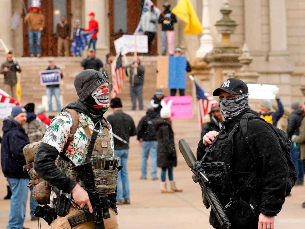 Operation Gridlock': Convoy in Michigan's capital protests stay-at ...