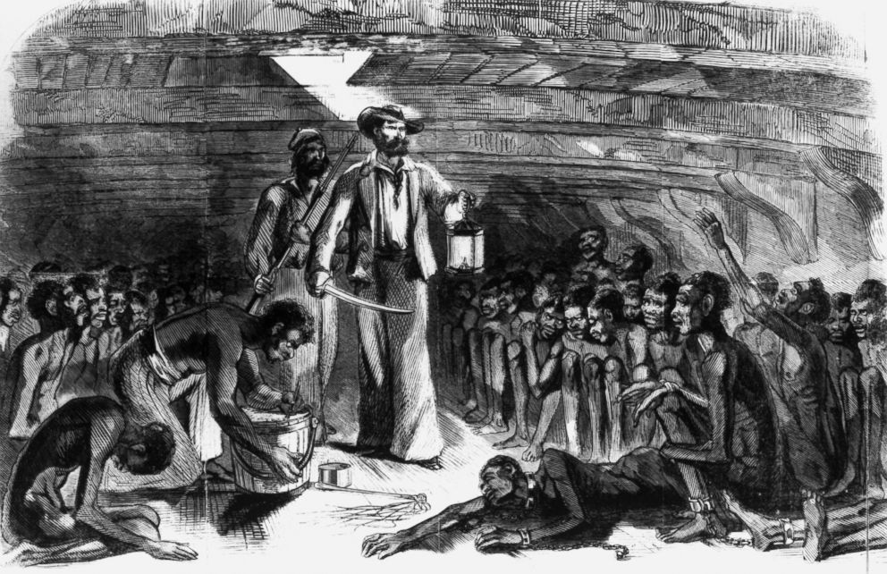 PHOTO: Scene in the hold of the blood-stained Gloria. (Middle Passage).