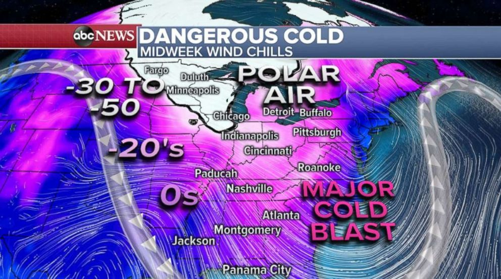 PHOTO: The cold will last well into next week.