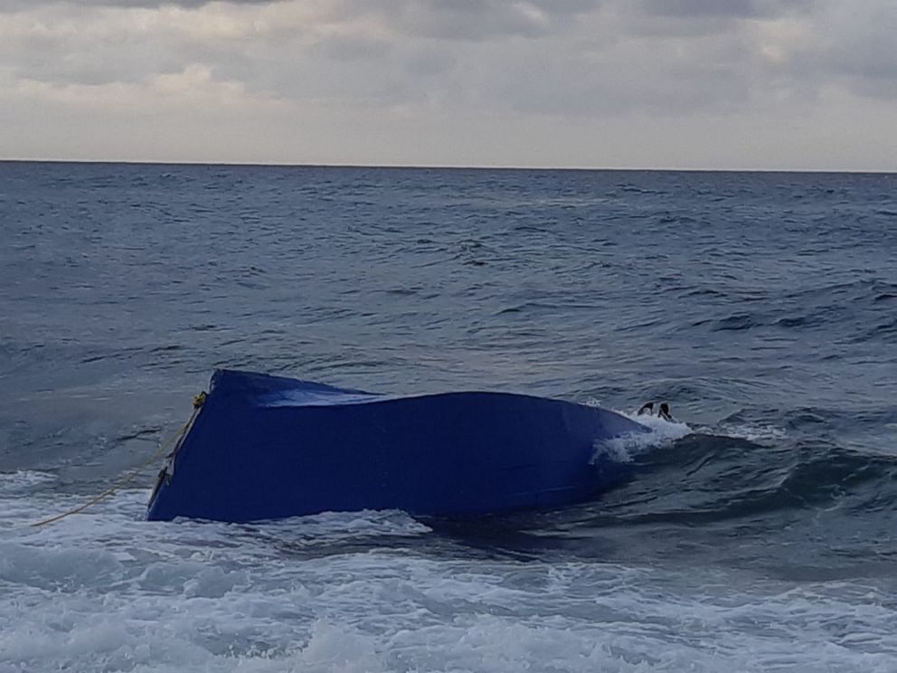 PHOTO: At least three people drowned when a boat carrying migrants capsized near Puerto Rico on Saturday, Sept. 14, 2019.