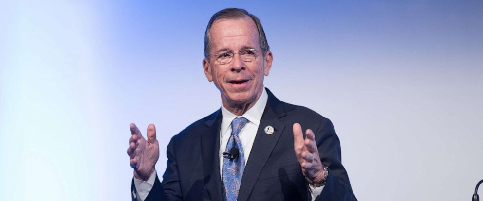 PHOTO: Admiral Michael Mullen speaks at an event on April 26, 2017, in New York City.