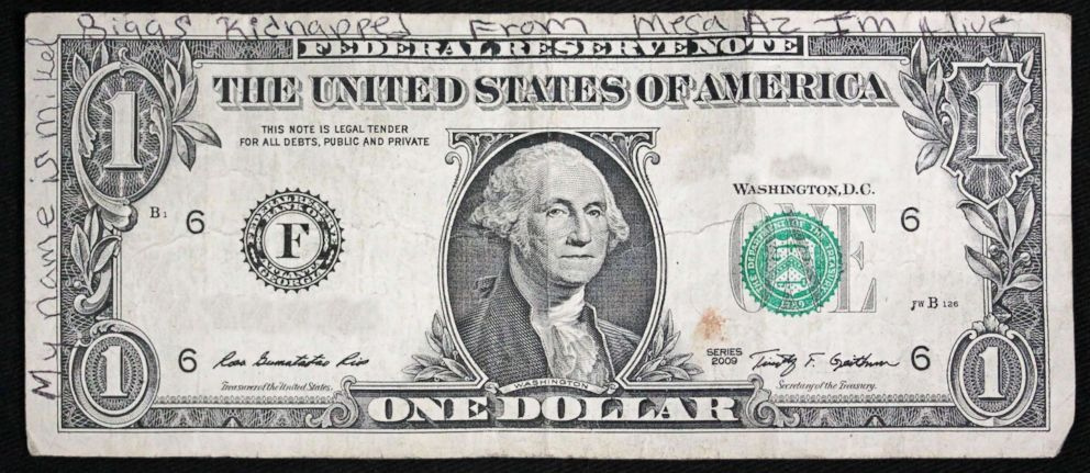 writing on dollar bill found in wisconsin casts new light on 1999