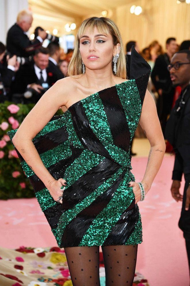 PHOTO: Miley Cyrus attends the 2019 Met Gala Celebrating Camp: Notes on Fashion at the Metropolitan Museum of Art, May 6, 2019, in New York City.