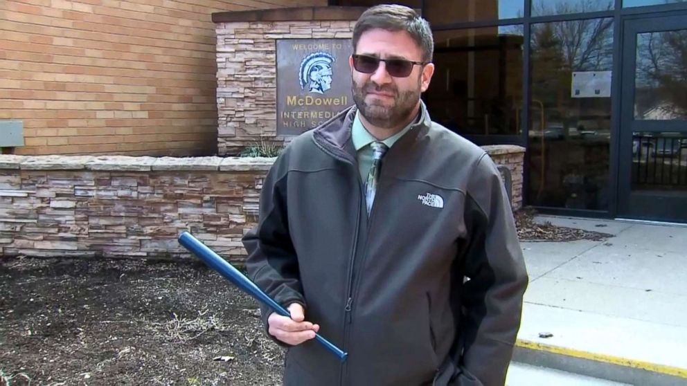 The Millcreek School District has placed small baseball bats in its classrooms.