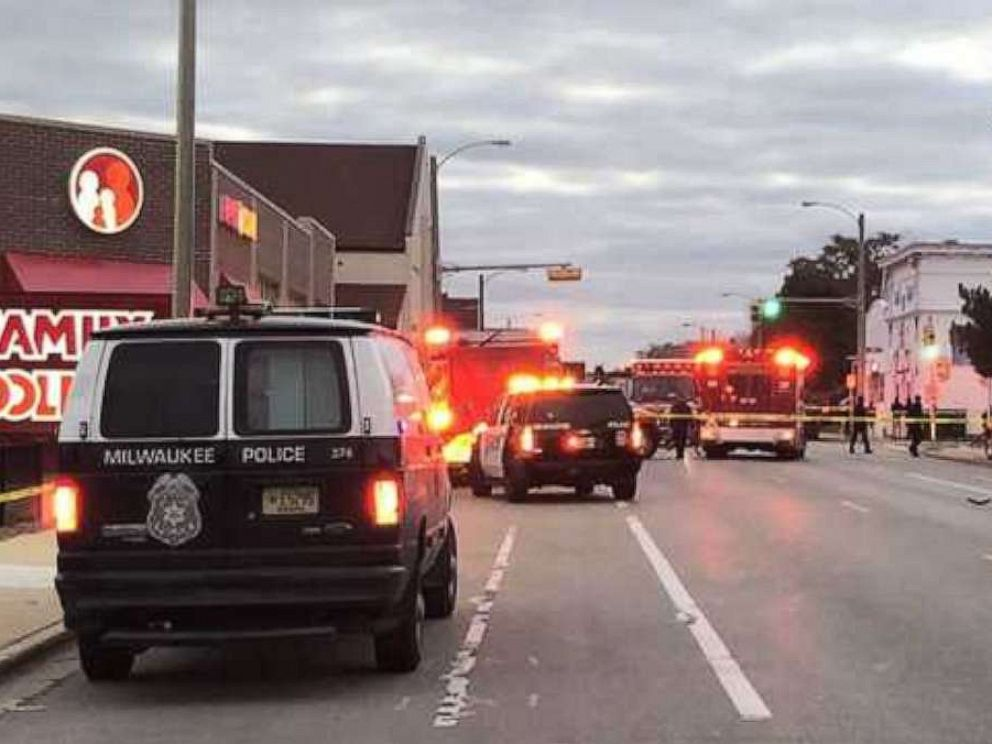 PHOTO: Three children were struck by a hit-and-run driver outside a Family Dollar in Milwaukee, Wis., on Thursday, Oct. 24, 2019. One child was killed.