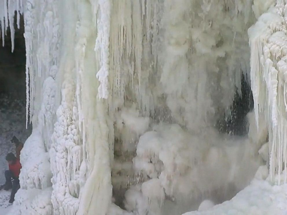 PHOTO: The Minnehaha Falls waterfall in Minnesota froze over amid plunging temperatures.