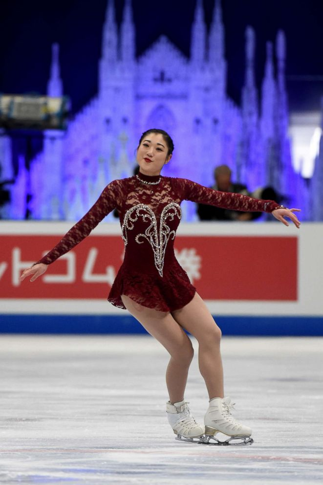 PHOTO: Mirai Nagasu of the United States competes in the ladies short program on day one of the World Figure Skating Championships at the Mediolanum Forum, March 21, 2018, in Milan, Italy.