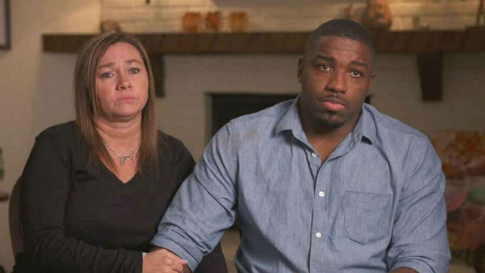 PHOTO: The mother, Angela Haley-Harris, and stepfather, Walt Harris, of missing Alabama college student Aniah Blanchard speak to Good Morning America on Wednesday, Nov. 6, 2019.