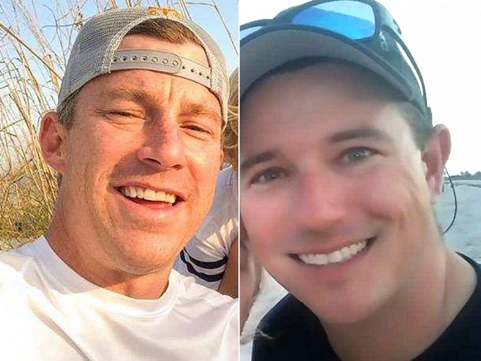 PHOTO: Pictured are Brian McCluney and Justin Walker in non-dating photographs.