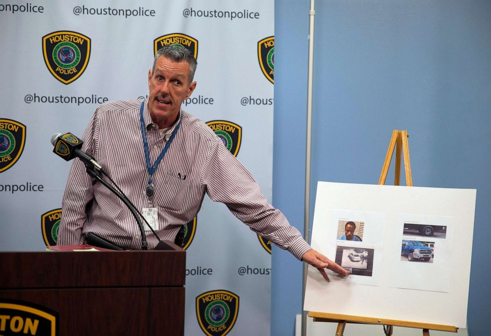 PHOTO: Sgt. Mark Holbrook gives an update about Maleah Davis, a four-year-old girl missing since Saturday night, during a news conference at the Houston Police Department headquarters, May 5, 2019.