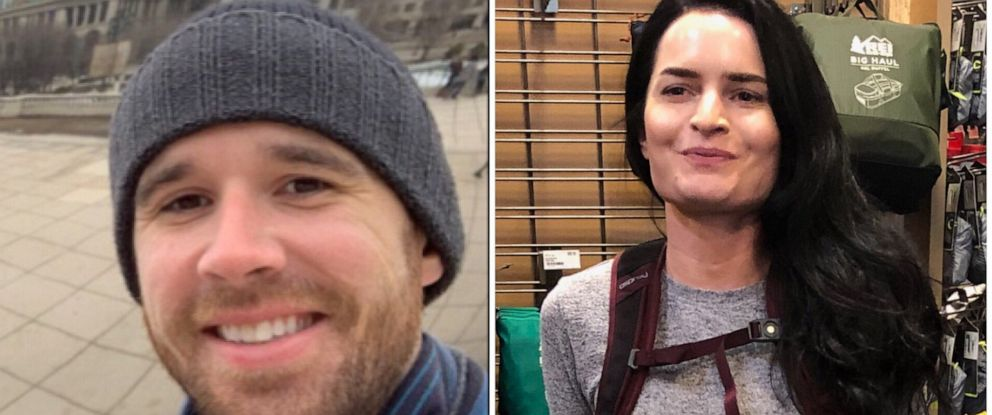 PHOTO: Missing hikers Eric Desplinter and Gabrielle Wallace were found late Wednesday, April 10, 2019, after getting lost on Mount Baldy in Southern California five days earlier.