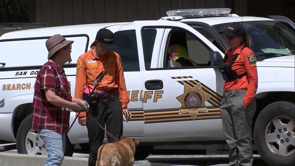 Rescue workers are searching the area around Mount Baldy and Cucamonga Peak in California's San Gabriel Mountains for two missing hikers who haven't been seen since April 6, 2019.