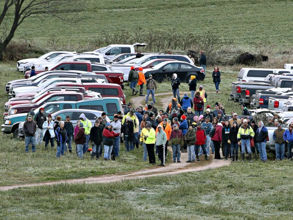 PHOTO: Hundreds of volunteers gather, Oct. 23, 2018, in Barron, Wis., to assist in the search for Jayme Closs, a missing teenage Wisconsin girl, whose parents were killed in the familys home.
