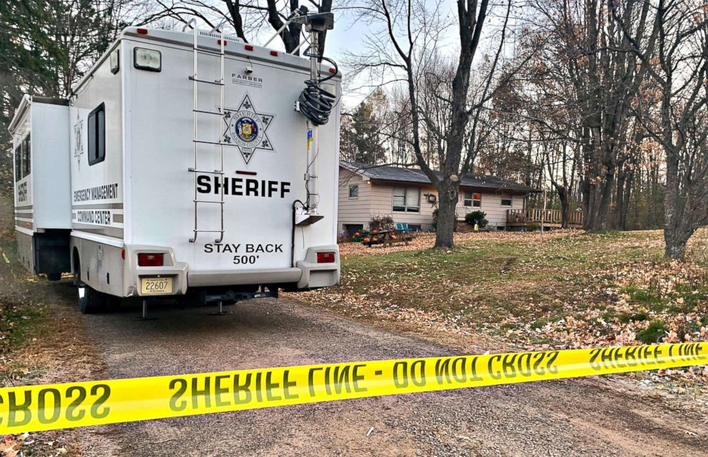 PHOTO: A Barron County, Wis. sheriffs vehicle sits outside on Oct. 23, 2018, at the home where James Closs and Denise Closs were found fatally shot on Oct. 15. A search was being organized to find the couples missing 13-year-old daughter, Jayme.