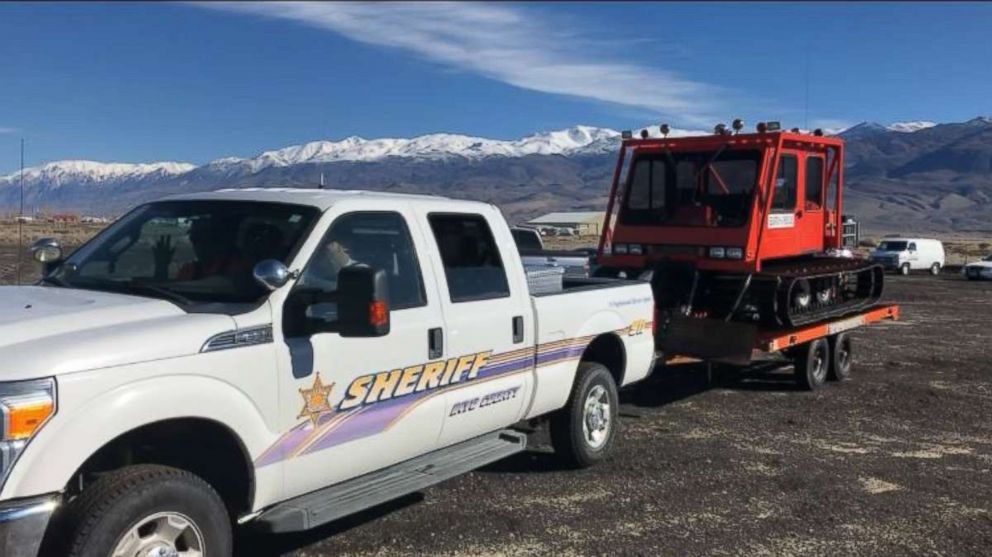 PHOTO: Inyo County Sheriffs Office is part of a multi-agency search for missing Marine 1st Lt. Matthew Kraft near Kearsarge Pass, Calif., on Saturday, March 9, 2019.