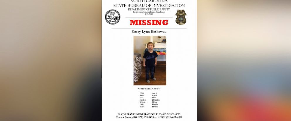 PHOTO: Authorities are searching Casey Lynn Hathaway, a missing 3-year-old boy.