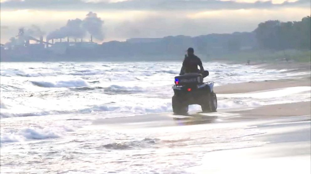 PHOTO: ATVs and drones were used to search for 24-year-old Tiara Hardy, who went missing after swimming in Lake Michigan in Gary, Indiana, Monday night.