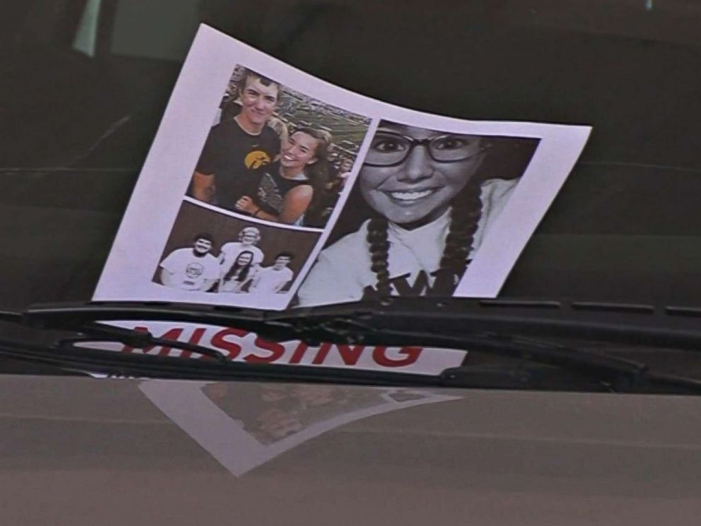 PHOTO: A missing person flyer for University of Iowa student Mollie Tibbetts.