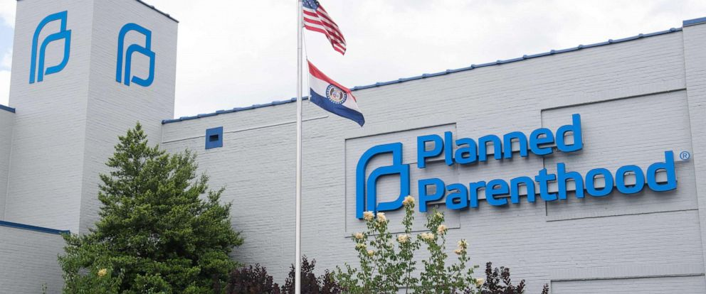 PHOTO: This file photos shows the outside of the Planned Parenthood Reproductive Health Services Center in St. Louis, Missouri, May 30, 2019, the last location in the state performing abortions.