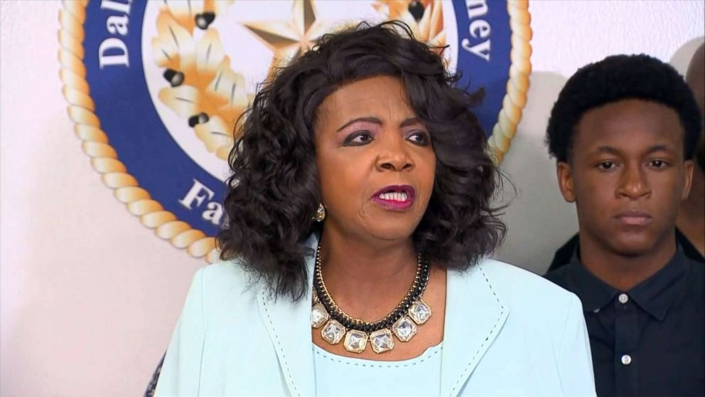 PHOTO: Dallas County District Attorney Faith Johnson speaks at a press conference in Dallas on Monday, Sept. 10, 2018 about a fatal shooting in which a Dallas police officer shot and killed Botham Jean after mistaking his apartment for her residence.
