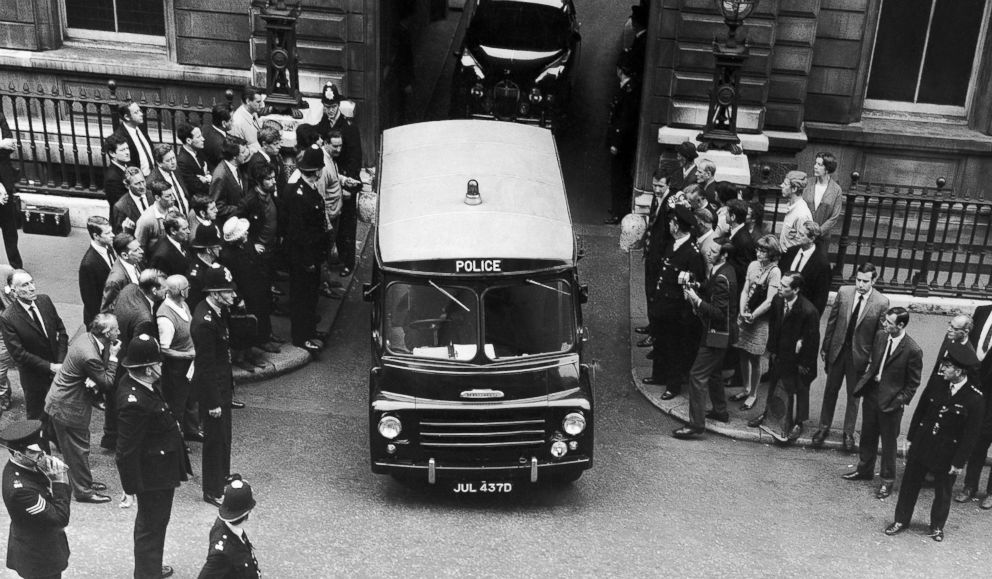 PHOTO: A Police van carrying Ramon George Sneyd, leaves Bow Street Court in London, England, on June 18, 1968. American Police believe Sneyd to be James Earl Ray, wanted for questioning in connection with the assassination of Dr. Martin Luther King Jr.