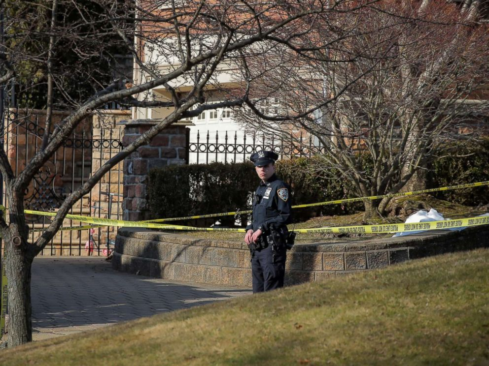 PHOTO: New York City Police officer is seen at the scene where reported New York Mafia Gambino family crime boss, Francesco Franky Boy Cali, was killed outside his home in the Staten Island borough of New York, March 14, 2019.