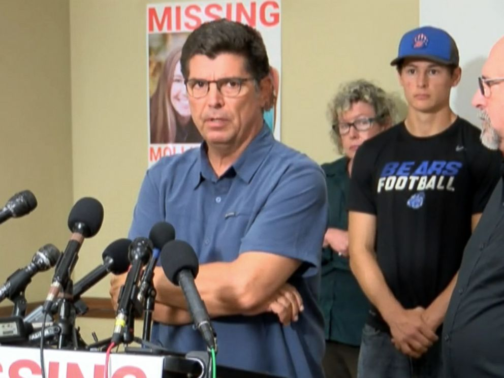 PHOTO: Rob Tibbetts, the father of missing student Mollie Tibbetts, 20, speaks at a press conference in Brooklyn, Iowa, Aug. 2, 2018.