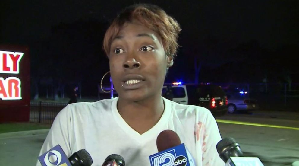 PHOTO: Shanterika Rayford, the mother of a child struck by a hit-and-run driver outside a Family Dollar in Milwaukee, Wis., on Thursday, Oct. 24, 2019, pleaded for him to surrender.