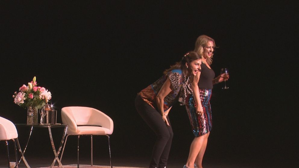 PHOTO: #IMomSoHard stars Kristin Hensley and Jen Smedley perform together as part of their third national tour.