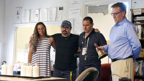 Newsrooms hold moment of silence Thursday in honor of Capital Gazette shooting victims