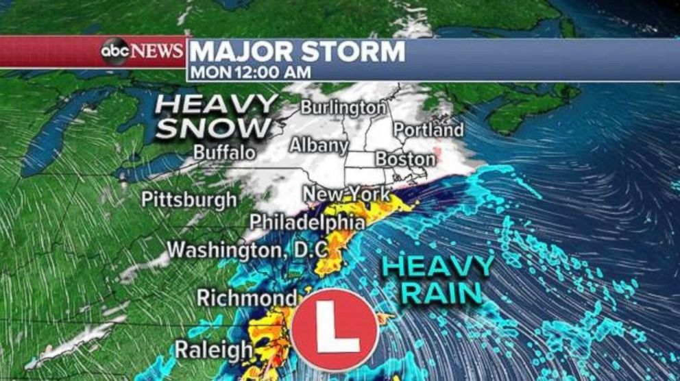 PHOTO: The rain/snow line will form somewhere along Interstate 95.