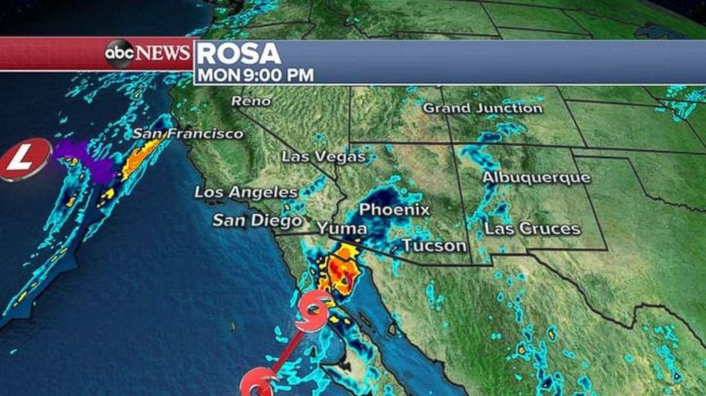 PHOTO: The storm is expected to make landfall in Baja California on Monday night.