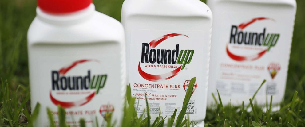 PHOTO: Bottles of Monsanto Co. Roundup brand herbicide products appear in this photograph in Shelbyville, Kentucky, April 4, 2016.