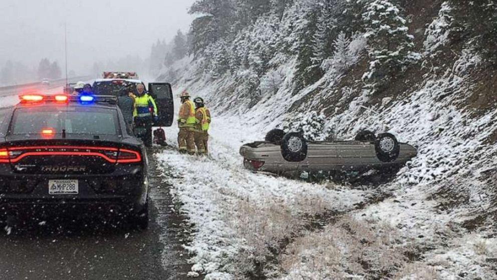 Große winter-Sturm-dumping Schnee in den Rockies