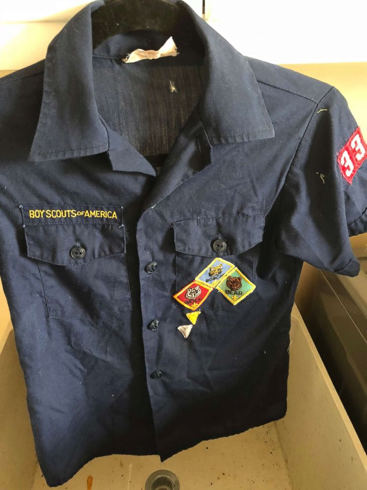 PHOTO: This Feb. 13, 2018, photo provided by Erin Doherty shows the Boy Scout uniform of a Montecito, Calif., mudslide victim, believed to be dead, after Doherty found and cleaned it before giving it to the boys mother.