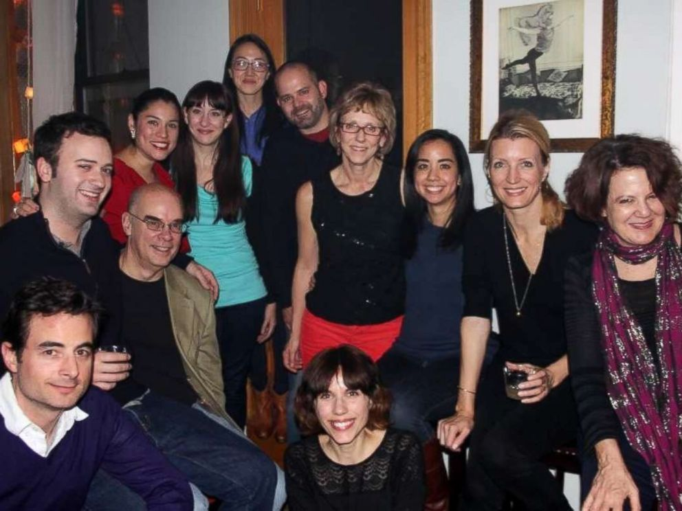 PHOTO: A group of the ABCNews.com team gathers for a holiday celebration in Dec. 2012.