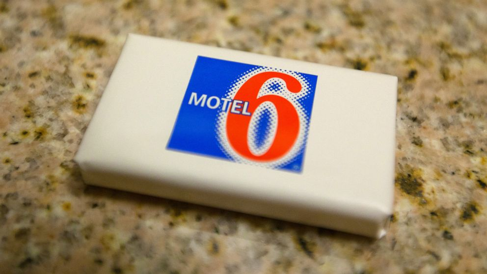 Soap on sink at a Motel 6, a low cost budget hotel chain located in cities across the United States.