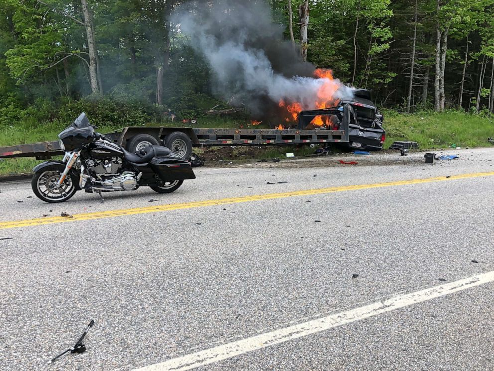 7 dead in New Hampshire collision with several motorcycles, pickup truck